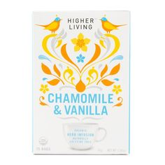 Higher Living Chamomile & Vanilla Organic Tea 15Pk
