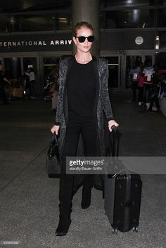 Rosie Huntington Whiteley is seen at LAX on November 03, 2016 in Los Angeles, California.
