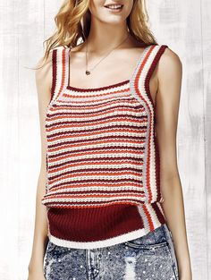 SHARE & Get it FREE | Women's Stylish Striped Knit Tank TopFor Fashion Lovers only:80,000+ Items • New Arrivals Daily • Affordable Casual to Chic for Every Occasion Join Sammydress: Get YOUR $50 NOW!