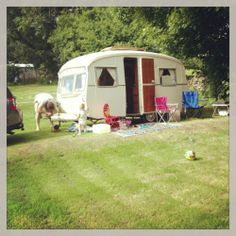 Vintage 1964 Cheltenham Sable classic caravan camper with awning