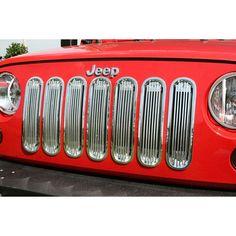 Billet Grille Insert, Polished Aluminum; 07-16 Jeep Wrangler JK