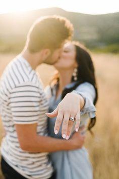 Kayla + Bronson || Wedding Photos by Sugar Rush Photo + Video || Latter day bride || LDS wedding || Salt Lake city Photographer || Engagement photos || I said Yes || Wedding Rings || Engagements at sunset || Sunset ||  Summer wedding || Utah photographer || Utah Videographer