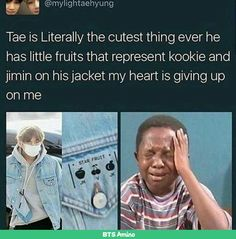 THE FACT THAT JUNGKOOKS A FUCKING PEACH I LOVE TAE SO MUCH