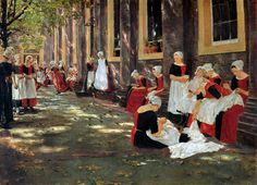 Max Liebermann Paintings | Free hour at Amsterdam orphanage