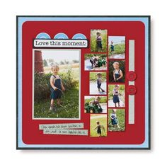 Love this Moment Scrapbook Layout Idea Page from Creative Memories #scrapbooking www.creativememor...