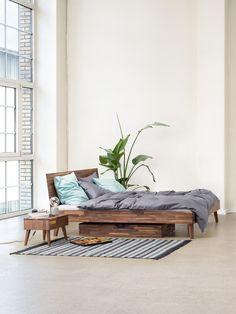 Micasa Schlafzimmer mit Bett & Nachttisch aus dem Programm CARA Entryway Bench, Furniture, Home Decor, Bedroom, Living Room, Nightstand, Interior, Bed, Ad Home