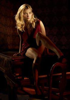 Natalie Dormer as Meghan Rydell - visual inspiration for bestselling author Angela M. Shrum's upcoming novel, Obsession
