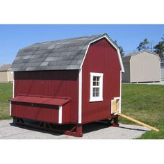 Little Cottage Company Gambrel Barn Chicken House with Ramp and Nesting Box