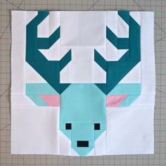 Sew Fresh Quilts: Let's Bee Social # 161 - deer reindeer quilt block