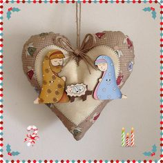 Natal.... Christmas Nativity Scene, Nativity Crafts, Ornament Crafts, Christmas Tag, Homemade Christmas, Christmas Tree Ornaments, Christmas Crafts, Christmas Decorations, Nativity Scenes
