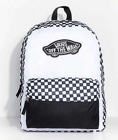 Vans Realm Checkered Backpack - bags and glasses - Outfits İdeas Vans Backpack, Diaper Backpack, Jansport Backpack, Backpack Bags, Fashion Backpack, Rucksack Backpack, Diaper Bags, Messenger Bags, Vans School Bags