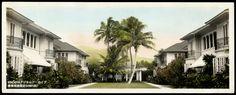 Hawaii Architecture 手彩色写真ハワイアン建築学大正昭和時代
