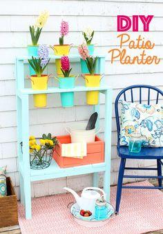 Easy to Build Patio DIY Planter- Outdoor Extravaganza - FYNES DESIGNS