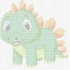 Beaded Cross Stitch, Cross Stitch Baby, Cross Stitch Animals, Cross Stitch Charts, Cross Stitch Patterns, Plastic Canvas Crafts, Plastic Canvas Patterns, Baby Dinosaurs, Baby Animals