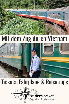 Du möchtest in Vietnam Bahn fahren? Dann solltest Du diese Zugreisetipps ansehen. Tickets, Fahrpläne und wichtige Vietnam Reisetipps für Deine Bahnreise findest du hier. #zugreise #bahnreise #vietnam #abenteuer Angkor, Travel Planner, Trip Planner, Asia, Wanderlust, Middle East, Travel Ideas, Outdoor, Highlights