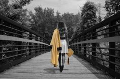 One of my Senior pictures w/ my cap and gown!