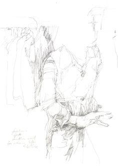 Wäscherin II, Graphit auf Papier, 29,7 x 21 cm, 2008, 250 €