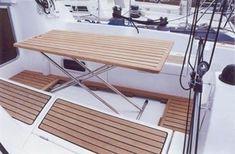 Fold away cockpit table / teak - - CASA MARE - Videos