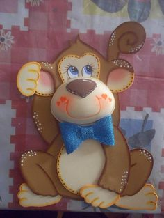 COMO COSIGO EL MOLDE DE GANCHO Jungle Animals, Felt Animals, Foam Crafts, Paper Crafts, Baby Shawer, Cute Monkey, Scroll Pattern, Animal Quilts, Country Paintings