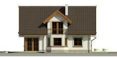Elewacja Dom przy Pomarańczowej 2 CE Model House Plan, House Plans, Model Homes, Home Fashion, Shed, Outdoor Structures, Cabin, Mansions, House Styles