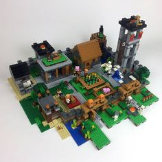 Max has been tinkering with the Village and Fortress sets. The result is a mighty, fortified village. Have you combined any of your sets? Lego Minecraft, Lego Moc, Arma Nerf, Ben 10 Action Figures, Lego Village, Lego Custom Minifigures, Minecraft Bedroom, Build Something, Everything Is Awesome