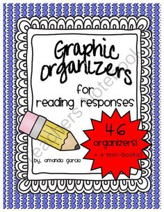 Graphic Organizers for Reading Responses from Sweet and Neat Printables on TeachersNotebook.com -  (58 pages)  - With these graphic organizers, students can respond to ANY book, all year long! Included are 46 graphic organizers for both fiction and nonfiction!  ALL organizers were created in black & white for easy printing, with minimal clip-art in order to appe