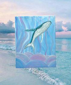 Space Whale, Whale Art, Sketch Ideas, Surf Art, Humpback Whale, Ocean Art, Stretched Canvas, Maui, Whimsical