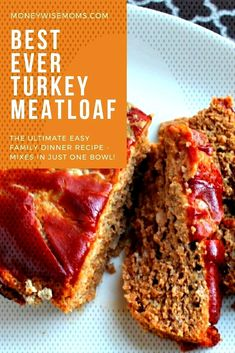 #groundturkeyrecipes #meatloafrecipes #groundturkey #meatloaf #maindish #beginn... Ground Turkey Meatloaf, Easy Family Dinners, Meat Loaf, Recipe Mix, Dinner Recipes, Food, Beef Cobbler, Meatloaf, Essen