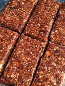 chocolate no bake protein bars, A fit nurse, Body Beast