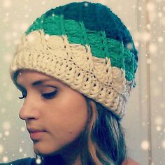 Devine swirl colorblock crochet hat. Link to pattern…