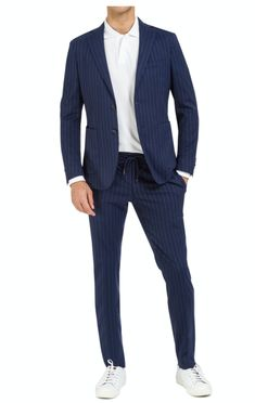 Anzug, Zweiteiler, Zweiknopf - Wolle, Seide, Lycra - Nadelstreifen, Loro Piana Gentleman, Diy Mask, Single Breasted, Suit Jacket, Jackets, Men, Fashion, Two Piece Outfit, Man Fashion