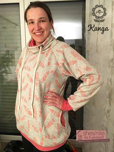 Mein erster Kragen-Hoodie: Kanga - Raglan-Sweater (Nähanleitung und Schnittmuster von Jolijou) Genäht von shesmile.
