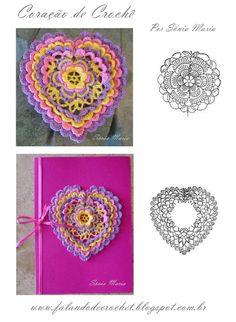 Crochet Heart - Chart ❥Teresa Restegui http://www.pinterest.com/teretegui/❥
