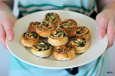 Baking Makes Things Better: Mini Spinach and Feta Pinwheels