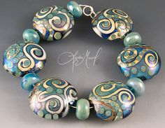 Fine Lampwork by Lydia Muell, Gallery of Lampwork Bead Sets ~ Sealife