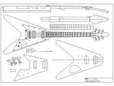 set of 4 electric guitar plans gibson flying v gibson explorer gibson les paul and ibanez. Black Bedroom Furniture Sets. Home Design Ideas