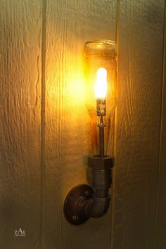 Wall Lamp Beer bottle Plumbing pipe & fittings by ZALcreations. $95.00 USD, via Etsy.