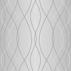 Superfresco Easy Paste the Wall Manhattan Geometric Silver Metallic Wallpaper