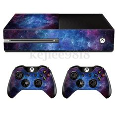 Nebula Skin Decal Sticker Cover Wrap For Microsoft Xbox One Console+2 Controller in Video Games & Consoles, Video Game Accessories, Faceplates, Decals & Stickers | eBay Games Xbox One, Geek Games, Video Games Xbox, Video Games Girls, Xbox 360, Playstation, Xbox One Consoles, Games Consoles, Retro Videos