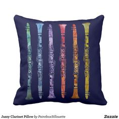 Jazzy Clarinet Pillow