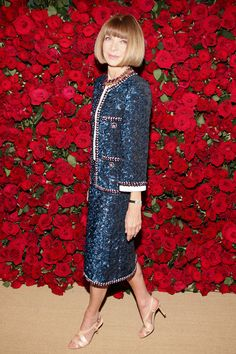 Anna Wintour in Chanel. FYI, Meg, she is the editor of Vogue and has been forever!  Lovely!