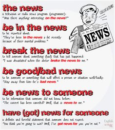 idioms & expressions with NEWS #learnenglish