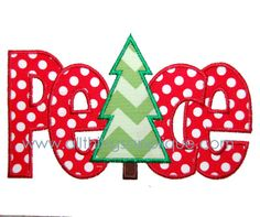 Peace with Tree Applique All Things Applique