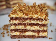Karamellás szelet - Blikk Rúzs Hungarian Desserts, Hungarian Recipes, Sweet Desserts, Delicious Desserts, Yummy Food, Cookie Recipes, Dessert Recipes, Torte Cake, Chocolate Sweets