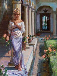 Daniel F. Gerhartz is known for his romantic, touching oil paintings of people, art for the home, romantic paintings, original art and original oil paintings. Painting People, Woman Painting, Painting Art, Painting Classes, Painting Lessons, Painting Tips, Contemporary Artists, Modern Art, Van Gogh Pinturas