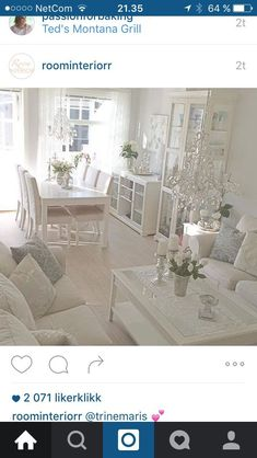 Liatorp I love this, but it needs just a touch of color. Maybe vases, pillows, flowers. Liatorp, Interior Design Living Room, Living Room Designs, Living Room Decor, White Rooms, White Decor, Shabby Chic Decor, Home And Living, House Design
