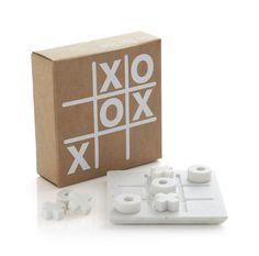 Marble Tic Tac Toe Set    Crate and Barrel $29.95  http://www.crateandbarrel.com/whats-new/new-accessories/marble-tic-tac-toe-set/s119980