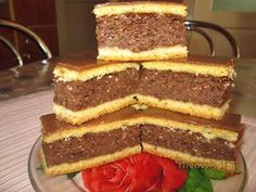 Romanian Desserts, Romanian Food, Cake Recipes, Dessert Recipes, Caramel, Sweet Treats, Deserts, Food And Drink, Yummy Food