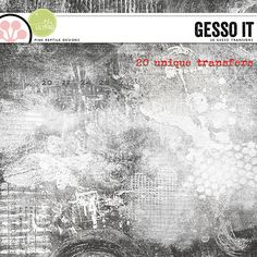 Gesso IT! Customize your pages and give them that extra little oomph by adding a touch of gesso here and there! You can use these transfers as they are to add texture to your pages, treat them with blend modes, use them as masks and clip papers or photos to them, use them as mattes or whatever your creative mind can come up with! The possibilities are endless! @Mirjam Schurings #digitalscrapbooking