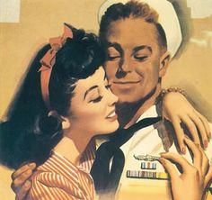 1940's U.S.O. gal.  Perfection.